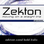 zekton cond bold italic