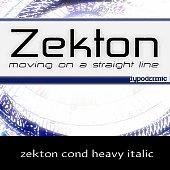 zekton cond heavy italic