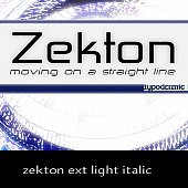 zekton ext light italic