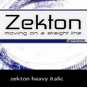 zekton heavy italic