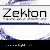 zekton light italic